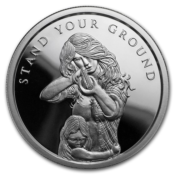 2018 1 oz Silver Shield Prf Round - MiniMintage Stand Your Ground