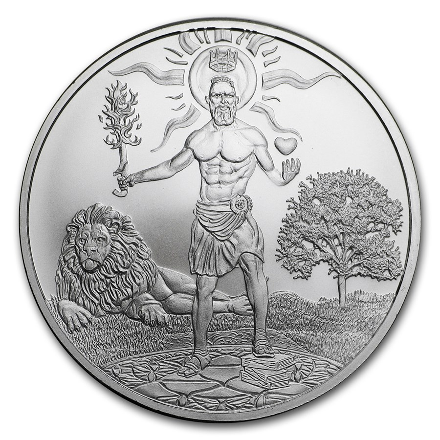 2018 1 oz Silver Shield Round - MiniMintage (King Within)