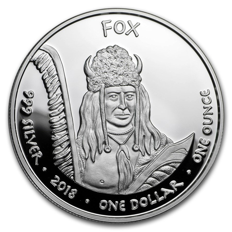 2018 1 oz Silver State Dollars Iowa Rabbit Proof