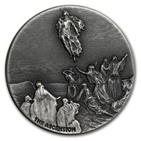 2018 2 oz Silver Coin - Biblical Series (Ascension of Christ)