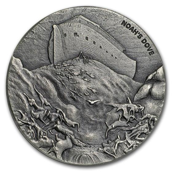 2018 2 oz Silver Coin - Biblical Series (Noah's Dove)