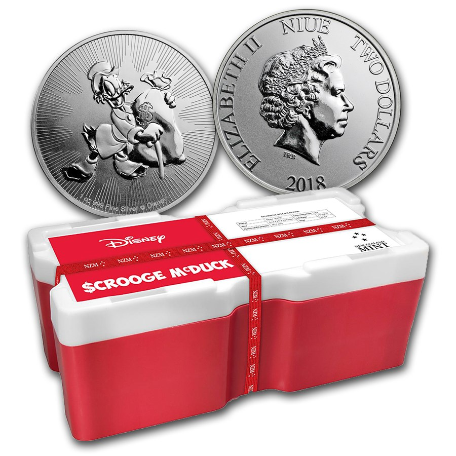 2018 250-Coin 1 oz Silver $2 Disney Scrooge McDuck Monster Box