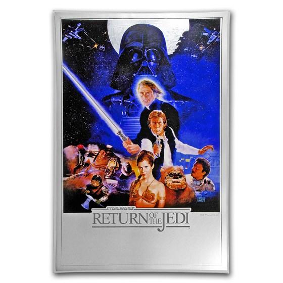 2018 35 gram Silver $2 Star Wars Return of the Jedi Foil Poster