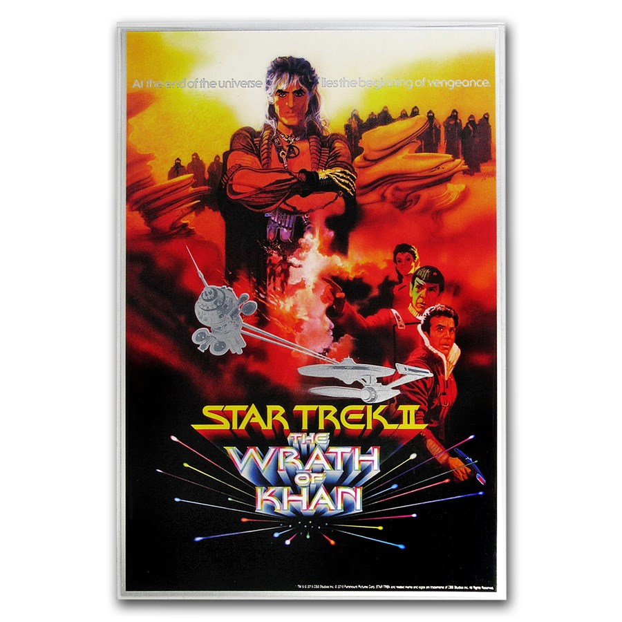 2018 35 gram Silver Star Trek II: The Wrath of Khan Foil