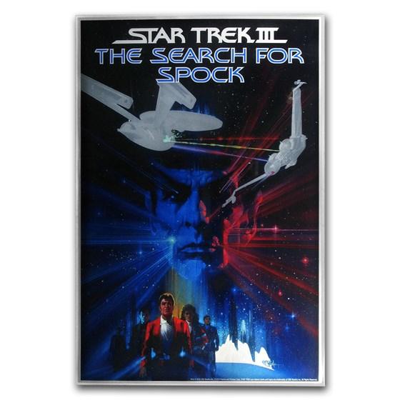 2018 35 gram Silver Star Trek III: Search for Spock Foil Poster