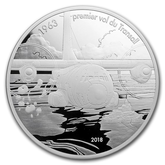 2018 5 oz Proof Silver Aviation & History (Transall)