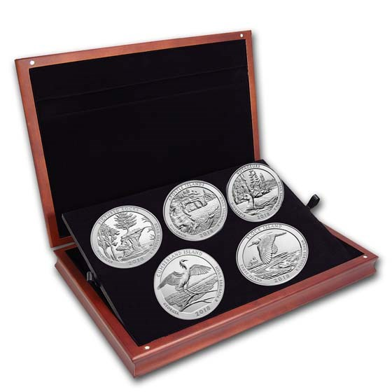 2018 5 oz Silver ATB 5-Coin Set (Elegant Display Box)
