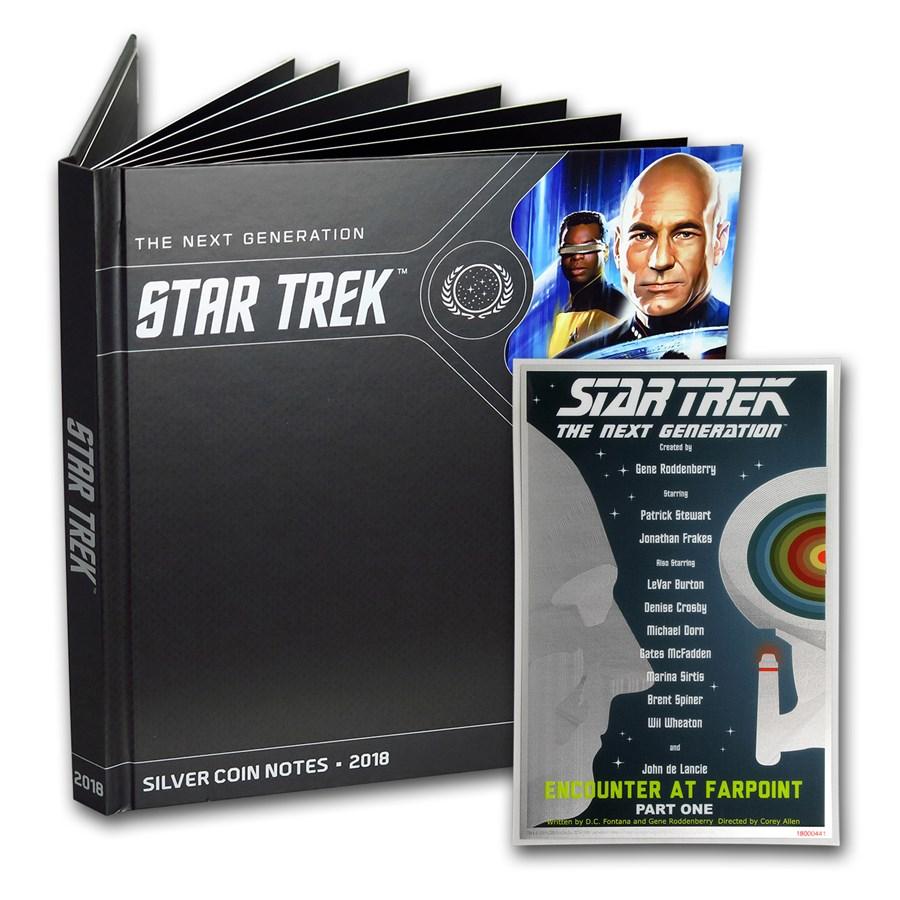 2018 5g Silver $1 Note Star Trek: Next Generation Pt. 1 w/Album