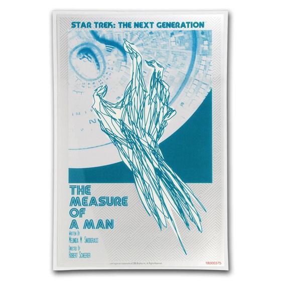 2018 5g Silver $1 Star Trek: Next Generation Measure of Man Foil