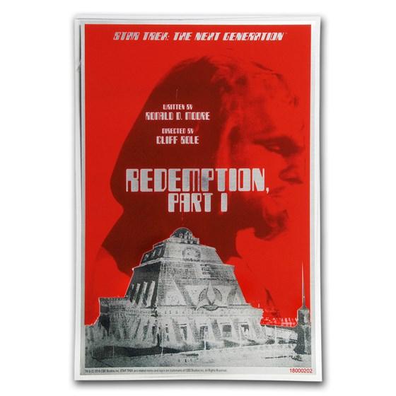 2018 5g Silver $1 Star Trek: Next Generation Redemption Foil Note