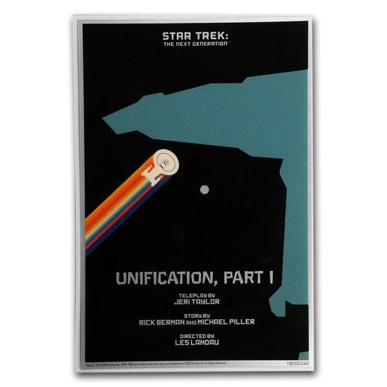 2018 5g Silver $1 Star Trek: Next Generation Unification Foil