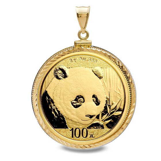 2018 8 gram Gold Panda Pendant (Diamond-Screw Top Bezel)