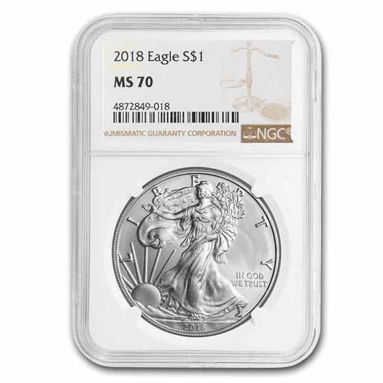 2018 American Silver Eagle MS-70 NGC