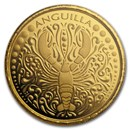 2018 Anguilla 1 oz Gold Lobster BU
