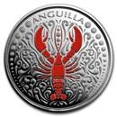 2018 Anguilla 1 oz Silver Lobster (Colorized)
