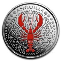 2018 Anguilla 1 oz Silver Lobster (Colorized)