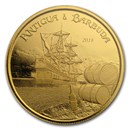 2018 Antigua & Barbuda 1 oz Gold Rum Runner BU