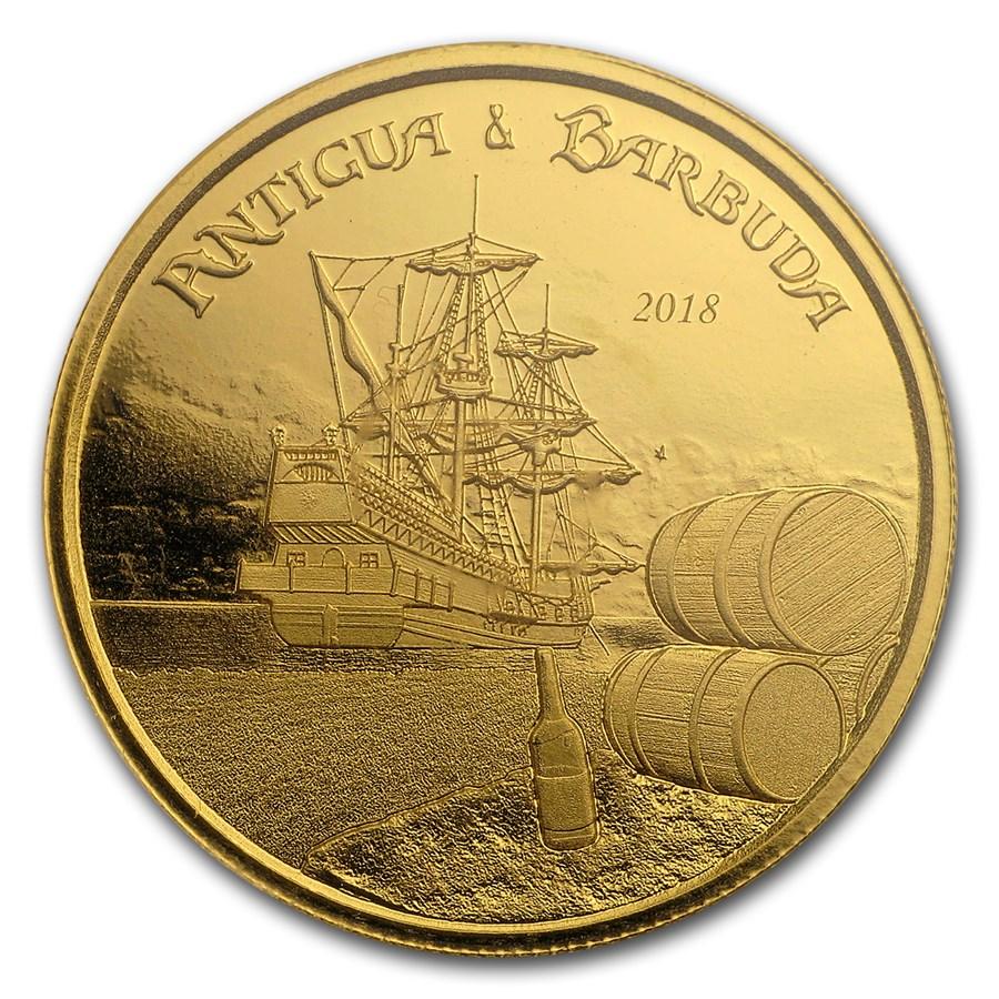 2018 Antigua & Barbuda 1 oz Gold Rum Runner BU