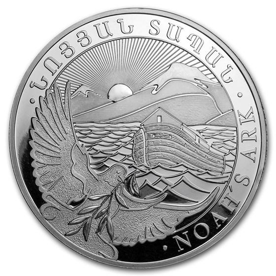 2018 Armenia 5 oz Silver 1000 Drams Noah's Ark