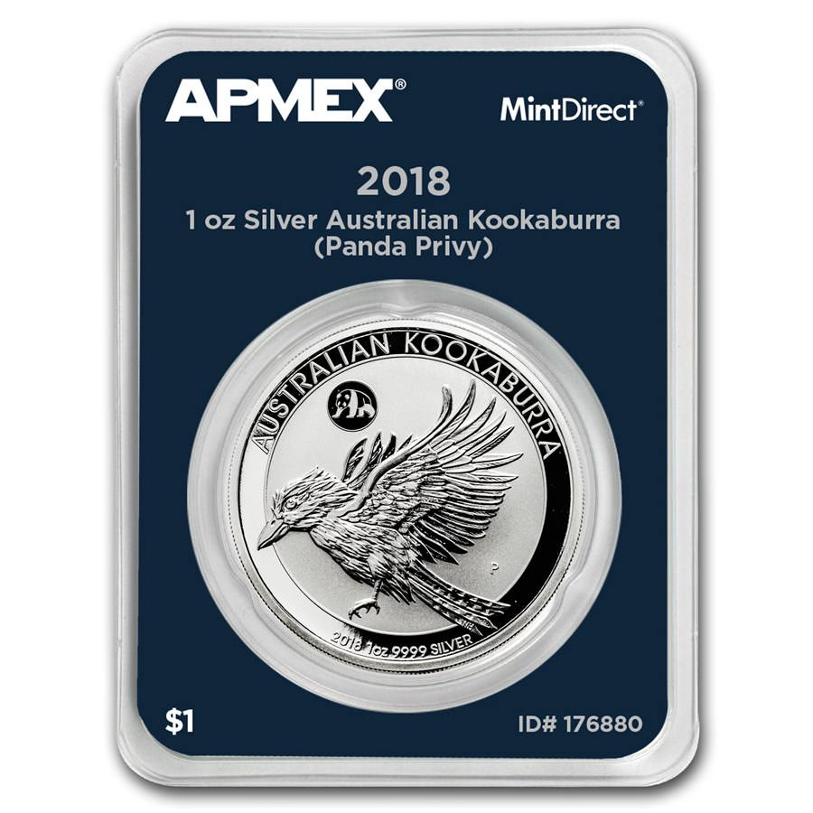 2018 AUS 1 oz Silver Kookaburra Panda Privy (MintDirect® Single)