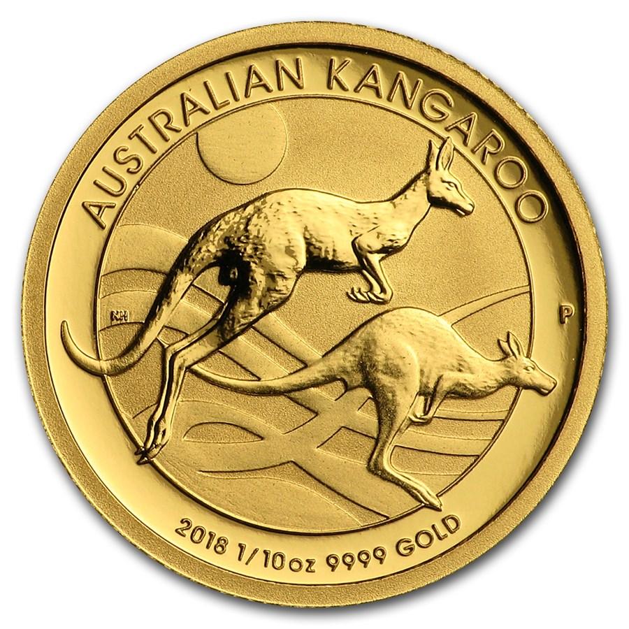 2018 Australia 1/10 oz Gold Kangaroo BU