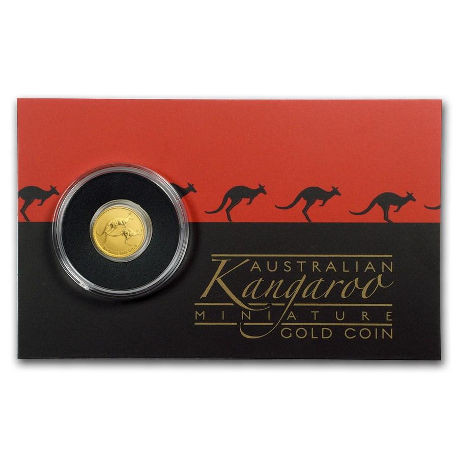 2018 Australia 1/2 Gram Gold Kangaroo Mini Roo BU (Assay Card)