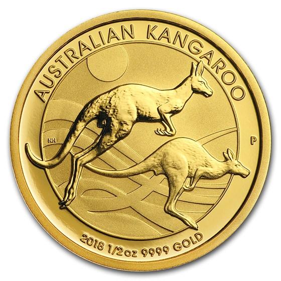2018 Australia 1/2 oz Gold Kangaroo BU