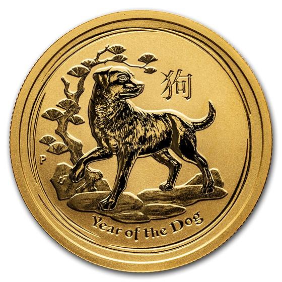2018 Australia 1/2 oz Gold Lunar Dog BU