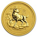 2018 Australia 1/20 oz Gold Lunar Dog BU