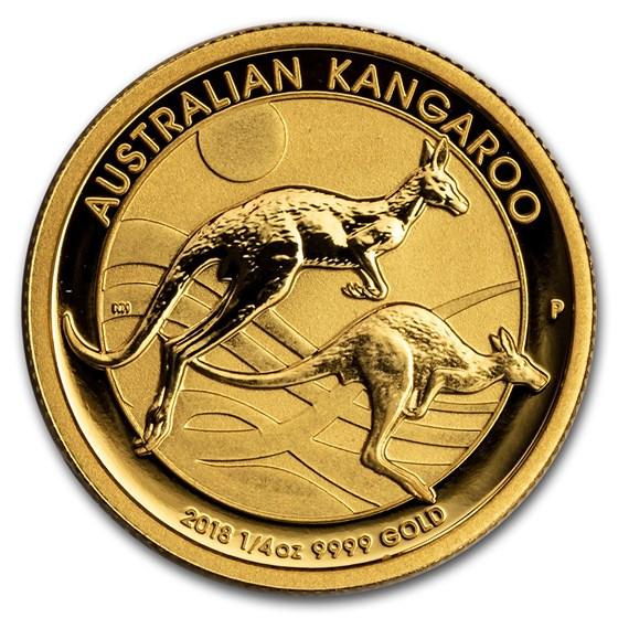 2018 Australia 1/4 oz Gold Kangaroo BU