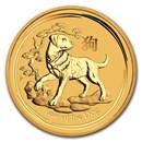 2018 Australia 1 kilo Gold Lunar Dog BU