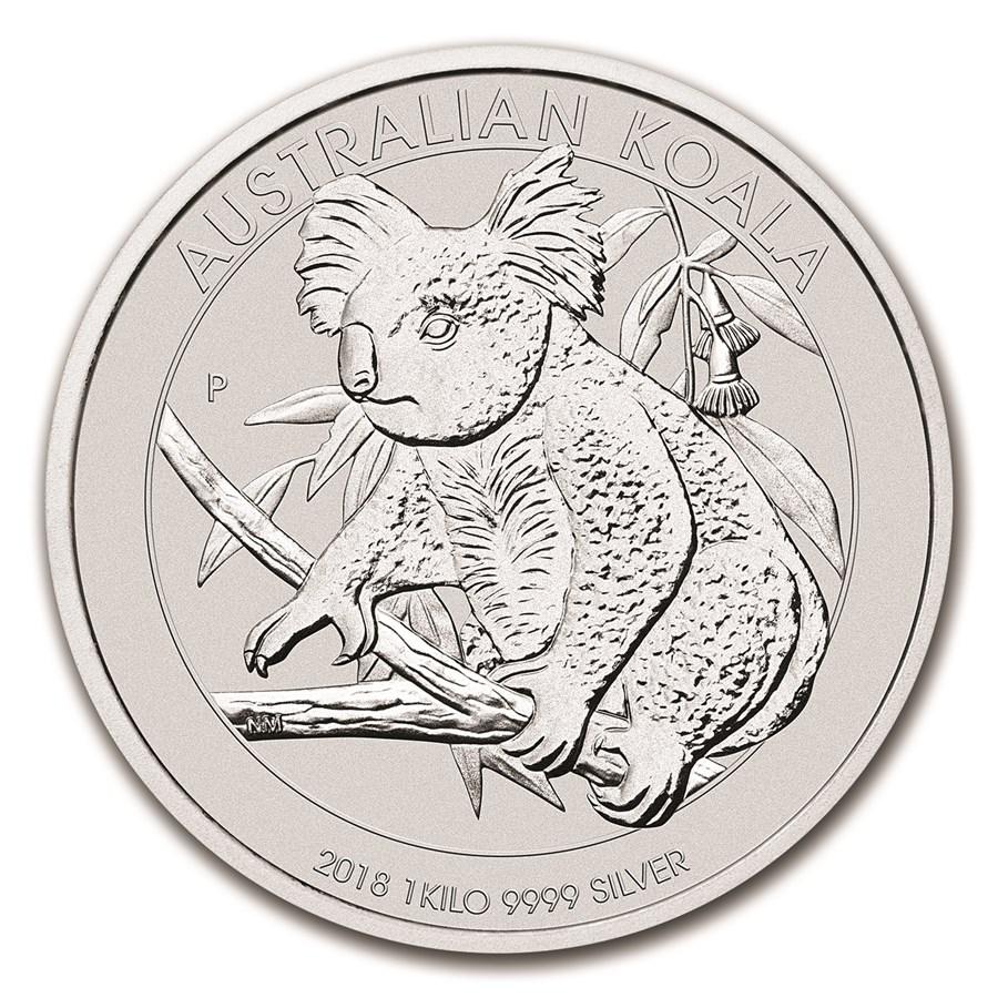 2018 Australia 1 kilo Silver Koala BU