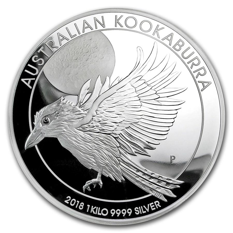 2018 Australia 1 kilo Silver Kookaburra Proof