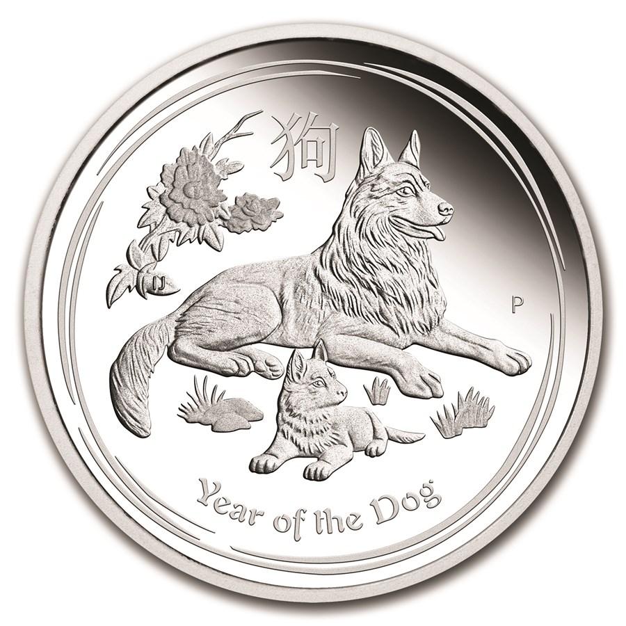 2018 Australia 1 kilo Silver Lunar Dog Proof (w/Box & COA)