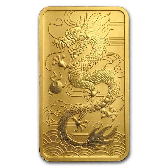 2018 Australia 1 oz Gold Dragon BU