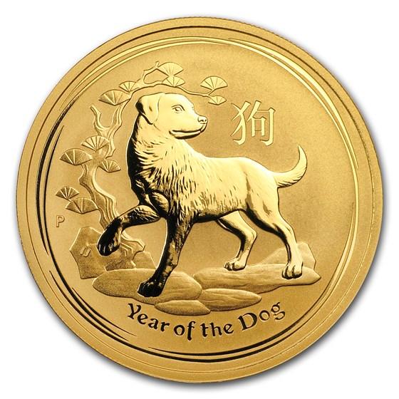 2018 Australia 1 oz Gold Lunar Dog BU (Series II)