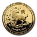 2018 Australia 1 oz Gold Lunar Dog Proof (w/box & COA)