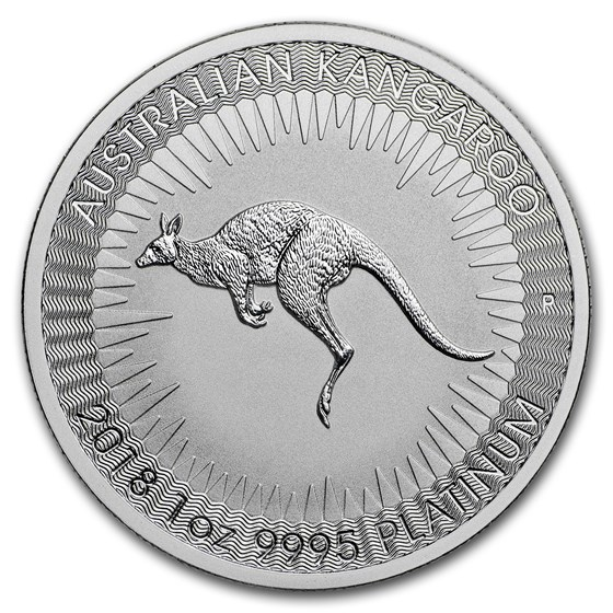 2018 Australia 1 oz Platinum Kangaroo BU