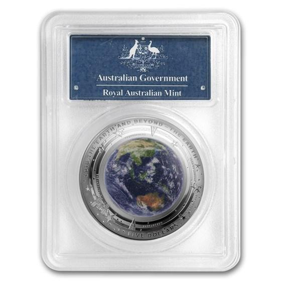 2018 Australia 1 oz Silver $5 Domed The Earth PR-70 PCGS (FS)