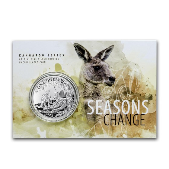 2018 Australia 1 oz Silver Kangaroo (Display Card)