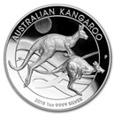 2018 Australia 1 oz Silver Kangaroo Proof (High Relief)
