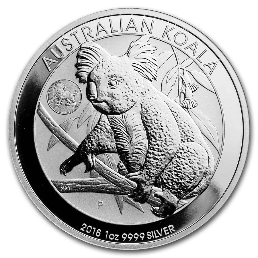 2018 Australia 1 oz Silver Koala BU (Dog Privy)