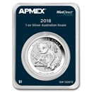 2018 Australia 1 oz Silver Koala (MintDirect® Premier Single)
