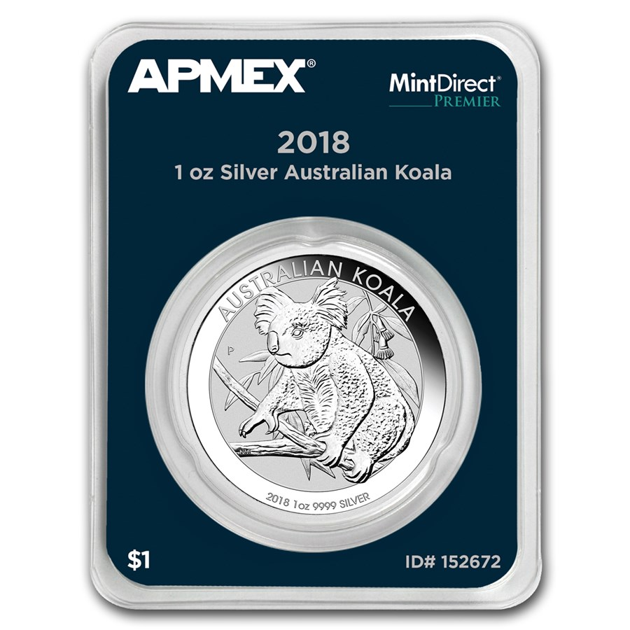 2018 Australia 1 oz Silver Koala (MintDirect® Premier Single)