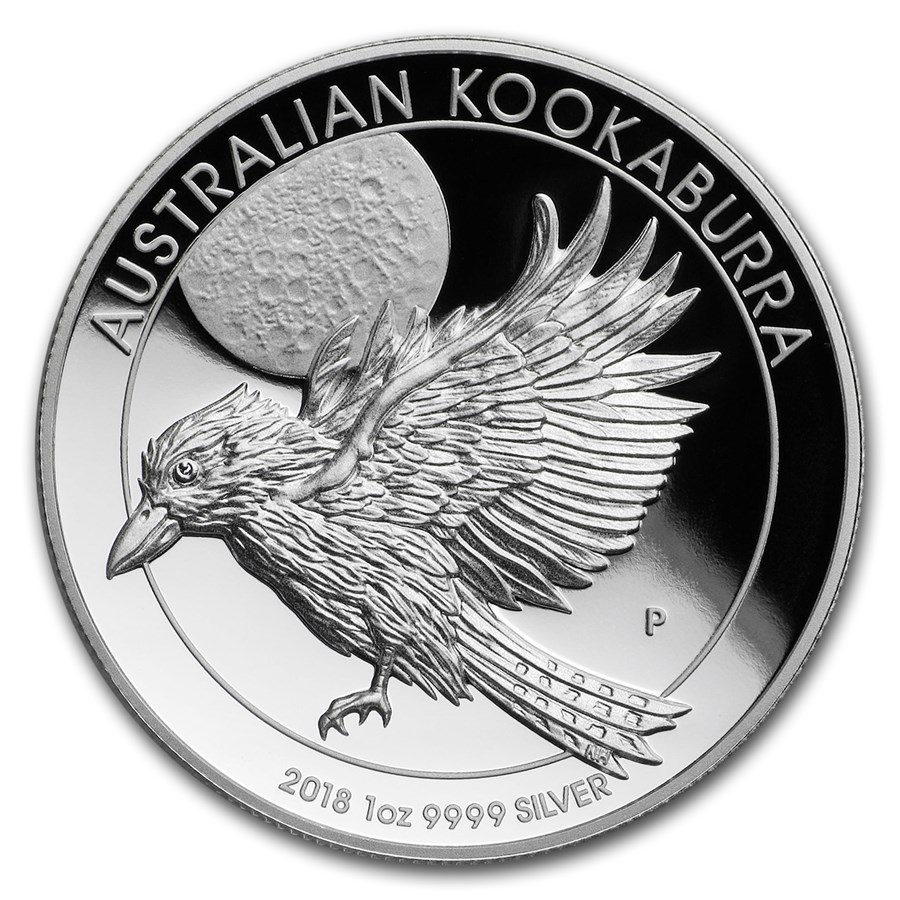 2018 Australia 1 oz Silver Kookaburra Proof (High Relief)