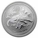 2018 Australia 1 oz Silver Lunar Dog BU (SII, Lion Privy)