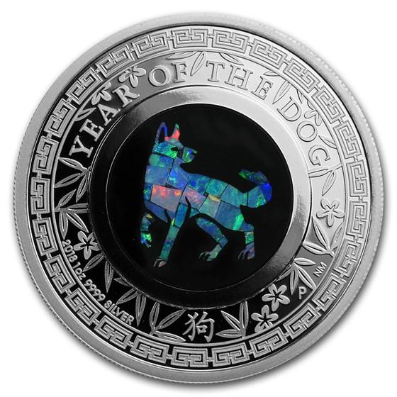 2018 Australia 1 oz Silver Opal Lunar Dog Proof