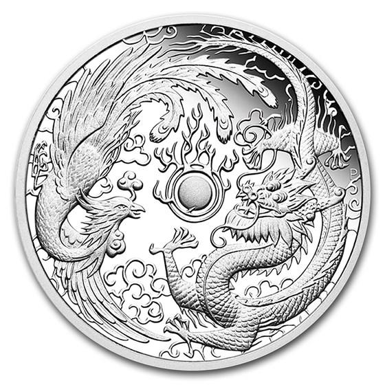 2018 Australia 1 oz Silver Proof Dragon & Phoenix