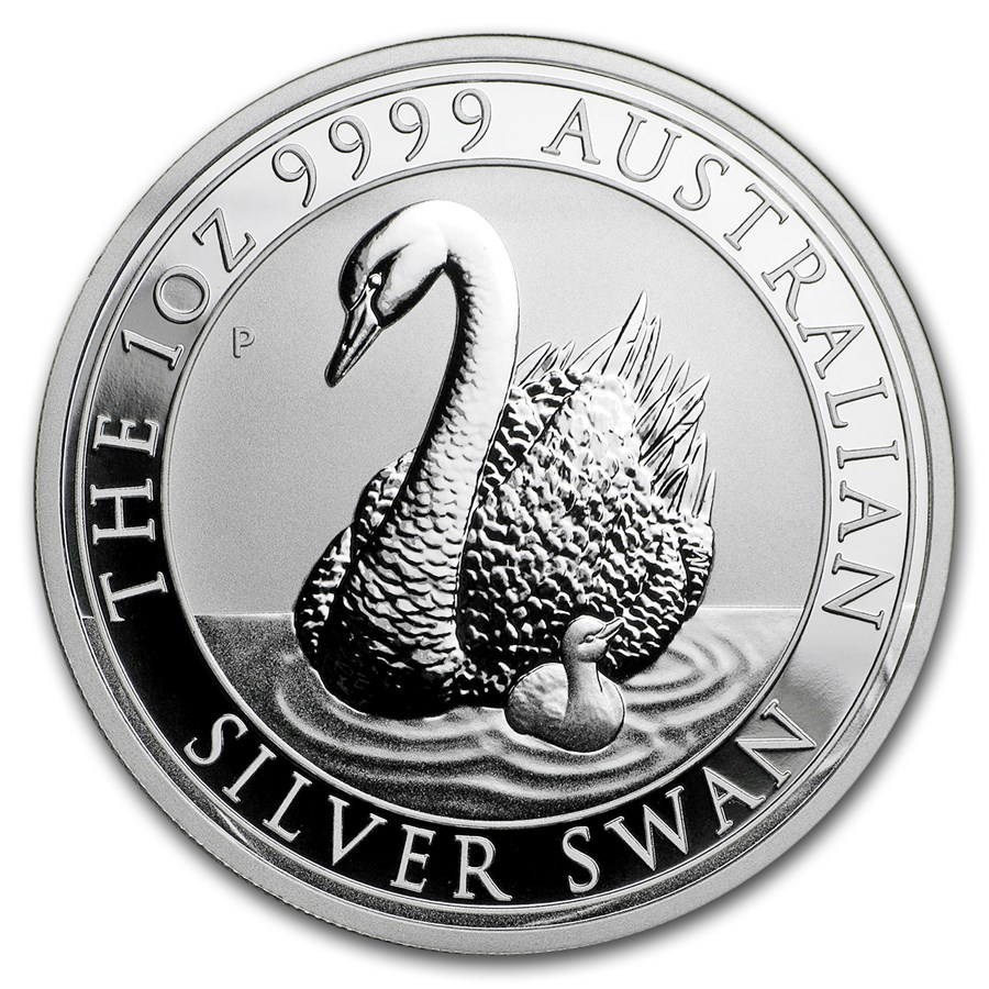 2018 Australia 1 oz Silver Swan BU
