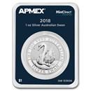 2018 Australia 1 oz Silver Swan (MintDirect® Premier Single)